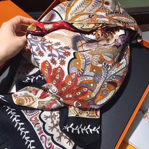 Authentic Hermes Silk Square Scarf Hermes Scarf